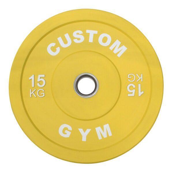 Farvet Bumper Plate 15 kg